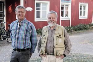 Projektledare Bo Harrysson för Hållbar utveckling i Uppsala stift och miljödiplomerare Pär Åslund fanns på plats i Johannesgården.