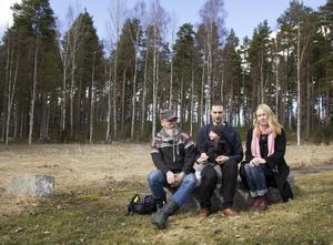 Glatt odlargäng. Johan Toll, Thomas Lundgren med Ilse och Madelene Krug.