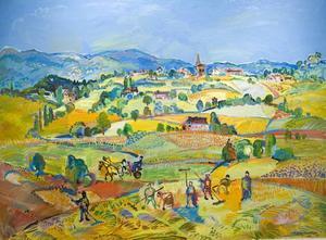 """BRILJANTA LANDSKAP. Pastellen """"Foret de Compiègne"""" hör till konstnärens tidiga verk."""