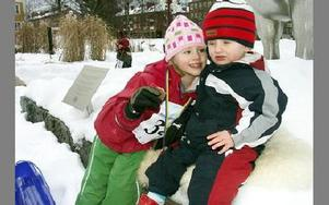 Elsa Eriksson, 4 år, och Erik Eriksson, 1,5 år.FOTO: ANNA ENBOM