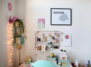 Emelies pastellfärgade kontor i