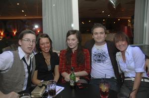 Strike. Magnus, Charlotte, Hanna, Jocke och Jessica