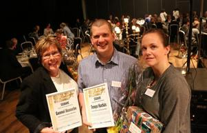 Årets företagare i Bergs kommun blev krögarparet Elaine Asp (bilden) och Thomas Johansson som driver restaurangen Hävvi i Glen.Ur motiveringen: