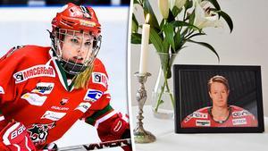 Moa Wernblom har använt hockeyn som terapi efter pojkvännen Markus Olssons bortgång.