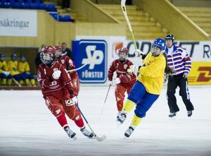 Team Hälsingland (gult) hade slut på krut i matchen mot Söråker, men gjorde totalt en mycket bra cupinsats.
