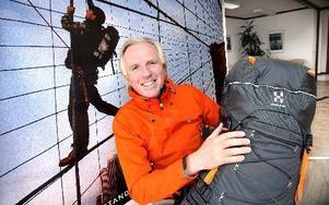 Mats Hedblom är VD för Haglöfs som nu får japanska Asics som ägare. Ett sätt menar han för att Haglöfs ska kunna utvecklas.FOTO: BONS NISSE ANDERSSON