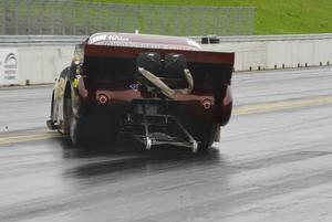 Det gick lite brett för Rimbert Vahlström i Top doorslammer, men han fick stopp på bilen i tid, och kunde senare ta hem totalsegern i Top doorslammercupen.