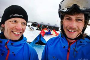 Mattias Cronskär och Simon Jaktlund – eldsjälarna bakom Kite-festivalen – hoppas att de har inspirerat fler till att upptäcka vad skidåkning med skärm kan erbjuda.