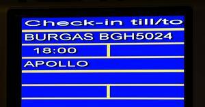 Fullsatt avgång. Första charterflyget mot Bulgarien avgick på onsdagskvällen och var fullsatt.