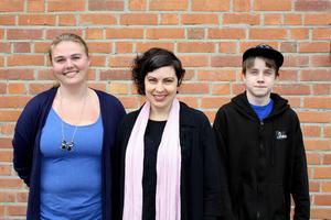 Hanna Johannesson, Terese Bengard, (S), och Joel Engström besökte landsbygdsriksdagen för Ragunda kommuns räkning.