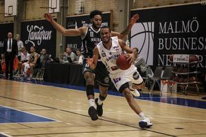 Arkivbild: Jabril Durham och Jämtland Basket mötte Malbas på bortaplan.