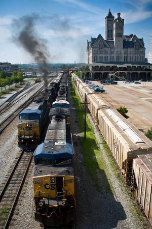 Countrylegendaren Johnny Cash skrev många låtar om tåg, kanske såg han några passera just här i Nashville.