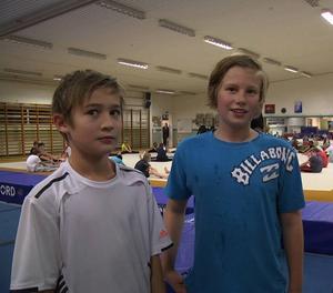 Albin Sporrstedt och Jakob Hofvenstam är två 12-åringar som gillar sporten.