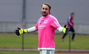 Mathias Swärd svarade för några helt matchavgörande räddningar i första halvlek.
