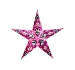 Från en indisk hantverkare kommer den här handgjorda stjärnan i tjockt, återvunnet papper med stansade hål. Innanför hålen finns tunt, färgat papper som ger en vacker effekt när lampan är tänd. Finns i flera färger hos seagren.se för 99 kronor.