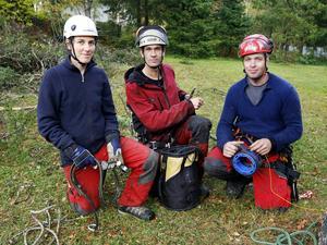 Susanne Gunther, Mikael Aronsgård och Sven Kich, har firman Treeworks tillsammans.