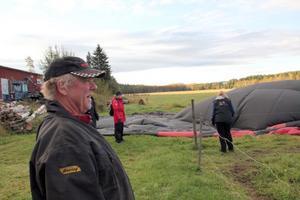 Leif Höök fick oväntat besök i potatislandet på torsdag morgon.