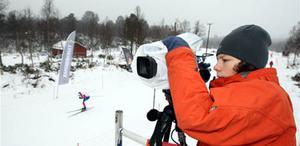 I ett högt torn stod William Stenvall- Zetterström och filmade tävlingarna.