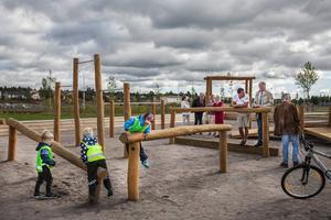 Parken har varit öppen och har används av både stora och små sedan en vecka tillbaka.