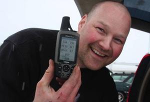 Peter Vestman kom upp i 293 km/h under den värsta snöyran på lördagen. – Jag slog av när jag upptäckte att sidovallen bara var en meter från mig, berättade Vestman.