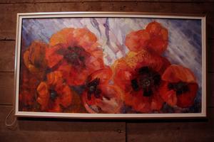 Sommarglöd, oljemålning av Solveig Bohm Dahlberg.