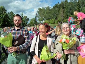 Tretalare: Per Gybo, Hanna Hedvall och Monika Thelin.
