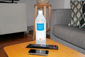 Använd gärna ytdesinfektionsmedel till mobilen.