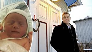 Erik Lövgren (S) är glad att allt gick bra i den första bilförlossningen sedan BB Sollefteå lades ner.