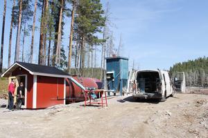 En ny reningsanläggning byggs vid Uxatjärns utlopp i ån Älman.