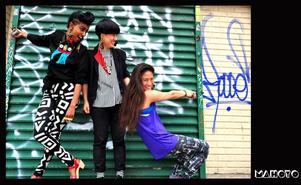 DJ-Kollektiv. Pharah, MyNa och Pia i Mahoyo.