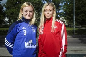 Systrarna Caroline och Sofie Wixner får båda följa derbyt från sidan, men då från varsin sida.