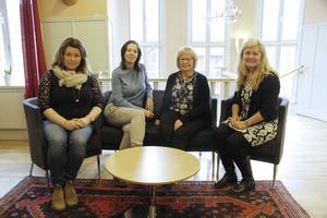 Fyra av hela 34 kvinnliga chefer i Säters kommunala versksamhet. Från vänster i bild syns Helena Åkerberg Hammarström, Marie Palm, Paula Jäverdal och Marie Boman.