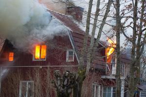 Villabrand i Kolsva, Allmänningsvägen.