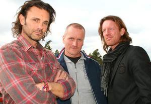 """Trion bakom """"MAN"""". Från vänster Raymond Ahlgren, Lennart Matikainen och Fredrik Swahn."""