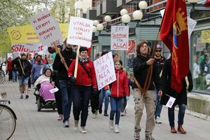 Under förra årets första maj firande i Kumla.