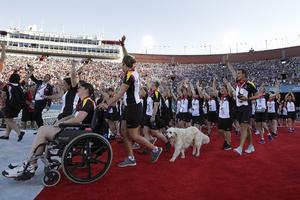 Det belgiska laget under öppningsceremonin av Special Olympics i Los Angeles, 2015.