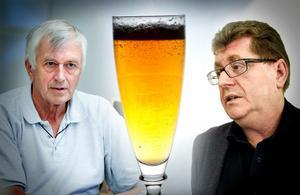 Nils Gossas (MP) och Jan Bohman (S) ger sig in i alkoholdebatten. Gossas vill inte öppna för alkoholservering på Domnarvsvallen och Maximteatern. Bohman menar att skiljelinjerna inte är så stora som det kan verka i debatten. OBS: FOTOMONTAGE