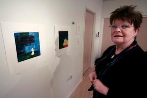 Lena Bergqvist är den enda av grafikutställarna som är från Nora. Hon har gått kurser i grafikverkstaden under några år.