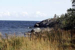 En båt tog in vatten vid Hornslandsudden vid lunchtid på lördagen. (arkivbild)