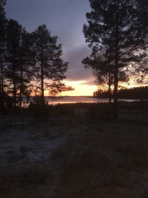 Solnedgång i Bänkåsviken.