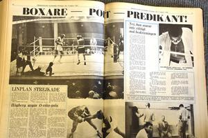 Uppslaget efter Alis uppvisning i Nolaskolan, den 8 augusti 1965.