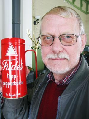 Kalle Westin fyndade en lokal burk. Frides topp-pepparkakaor, av toppkvalitet.