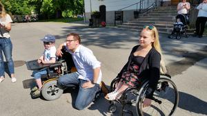 Olle Bergqvist, Inge Olleson och Johanna Mårtensson på prisutdelningen vid Gävle Slott.