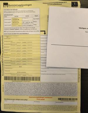 Se upp för det här brevet. Att rätta fel, skriva under och returnera kan kosta 11 790 plus moms. Vänd på brevet och läs det finstilta.