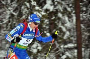 Ute skogen gick det lika fort som vanligt för Anna Carin Olofsson-Zidek. Tre bom i liggande förstörde dock dagen.