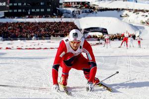 Petter Northug var en av många profiler som showade inför storpublik vid skid-VM i Oslo.