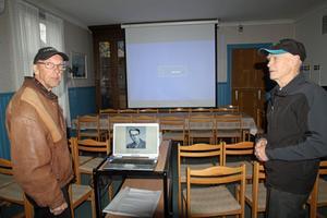Bosse Olsson från fotoklubben och Ingvar Sivertsson från IOGT-NTO-föreningen i Nås bjuder in till en bildafton.