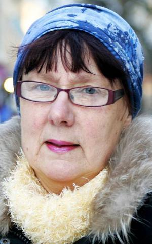 Margareta Jönsson,60 år, Rossbol:– Jajamän, sådana här dagar när det är kallt. Är det under fem minus så åker långkalsongerna på, och annars också om man vet att man ska vara ute ett tag.