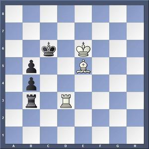 Lösning: 1.Td7 Kc5 2.Tc7 matt