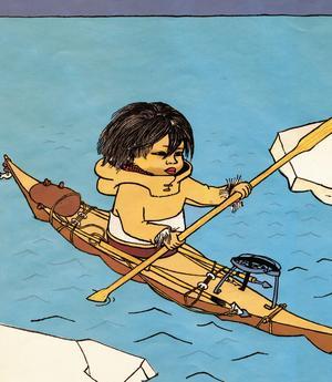 Ingrid Vang Nyman tecknade gärna asiatiska och grönländska barn.